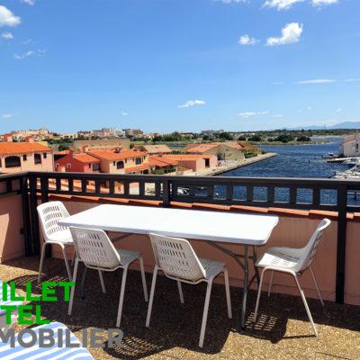 Grand T3 Duplex – Terrasse sur plagette privée